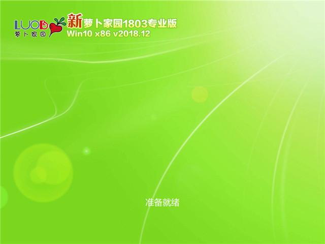 萝卜家园 Win10 x86(1803专业版)v2018.12